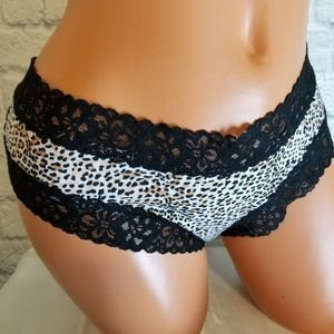 Victoria's Secret Animal Print Lacy Cheeky Panty